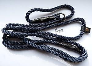 Extra long 2m très solide Dressage de chien Laisse lasso en corde Cessez Gundog Laisse Noir
