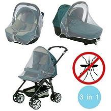 3en1 Mosquitera para el carrito de paseo/Sillita coche/Moisés-Medida universal