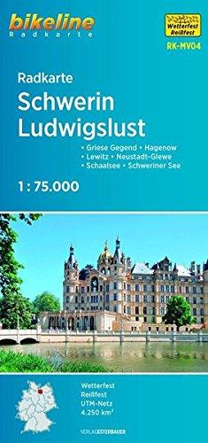 Radkarte Schwerin Ludwigslust (RK-MV04): Griese Gegend - Lewitz - Hagenow - Neustadt-Glewe - Schaalsee - Schweriner See (Bikeline Radkarte)