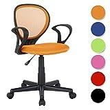 SixBros. Sedia ufficio sedia girevole arancio - H-2408F/2114