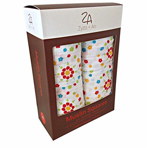Preisvergleich Produktbild Wickeltuch aus Musselin Bio - X Groß Swaddles - Unisex - 2 weiß% cotton-for Babybett Perfekte Geschenk
