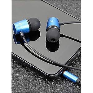 jinclonder Metallverdrahtete Kopfhörer In-Ear-Handy Computer Universal-Headset Subwoofer In-Ear-Verschleiß HD-Mikrofon…