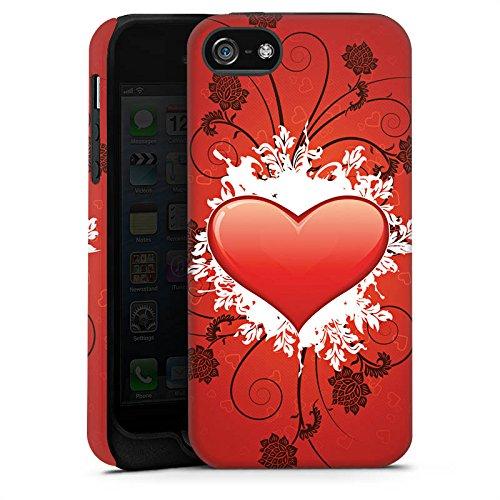 Apple iPhone X Silikon Hülle Case Schutzhülle Herz Muster Love Amore Tough Case matt