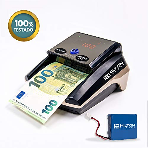 HILTON EUROPE HE-320 SD Detector Billetes Falsos 8 SISTEMAS DE DETECCION Actualizable portátil actualizado...