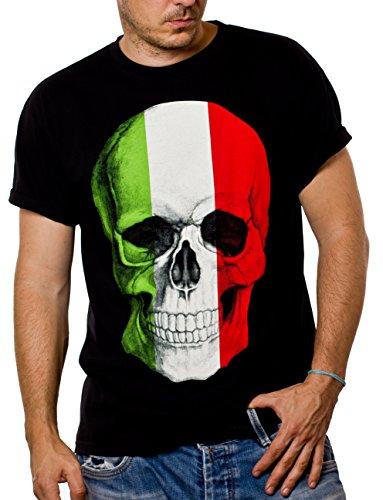 Italien T-Shirt für Herren SKULL schwarz Größe XXL