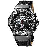JBW Saxon Reloj DE Hombre Diamante Cuarzo Suizo 46MM JB-6101L-I