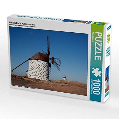 Preisvergleich Produktbild Windmühle in Fuerteventura 1000 Teile Puzzle quer (CALVENDO Natur)