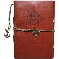 Guwheat Cubierta de cuero retra de la PU del cuaderno del diario de la cubierta (Marrón)