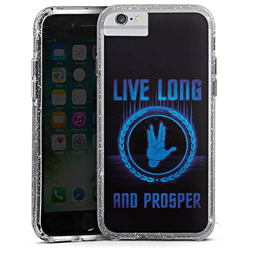 Apple iPhone X Bumper Hülle Bumper Case Glitzer Hülle Startreck Statement Sayings Bumper Case Glitzer silber