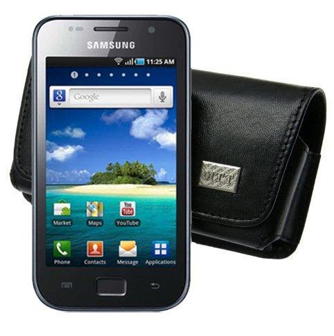 Original MTT Quertasche fuer / Samsung Galaxy S / GT i9003 - Super Clear LCD / Horizontal Tasche Ledertasche Handytasche Etui mit Clip und Sicherheitsschlaufe*