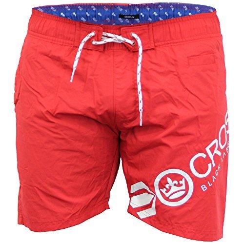 Herren Netzfutter Surfen Schwimmen Shorts Von Crosshatch Kirsch - MAKINs