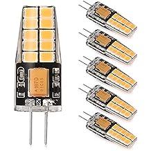 LEDGLE Set de Bombillas LED de 3W G4, 300lm, Blanco Cálido, 2800K, Bombilla no Regulable, ángulo del Haz de luz Ancho, Equivalente a 35W Bombillas Tradicionales, 20 SMD 2835 Chips LED, 6 Piezas