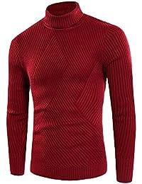Jersey Camiseta Con Cuello Alto Slim Fit Para Hombre
