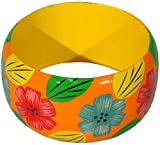 Capelli New York Holz-Armreif 'Summer Flowers' orange, One Size