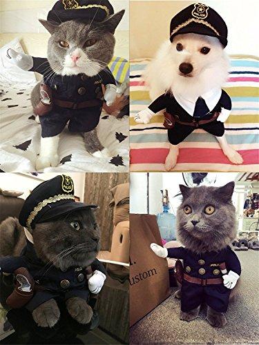 erkleidung, Haustierkostüm, Stil: Polizist, Matrose, Cowboy, für kleine Hunde und Katzen, für Weihnachten, Geburtstage, Hochzeiten, Paraden, Fotos oder zum Spielen (Verwenden Sie Ihre Eigene Kleidung Halloween Kostüme)