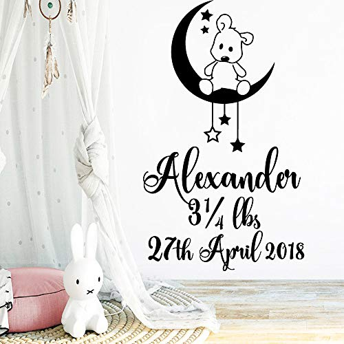 yaoxingfu New Moon Wall Stickers Home Decoration for Kids Room Living Room Home Decor Mural Po57cm X 95cm