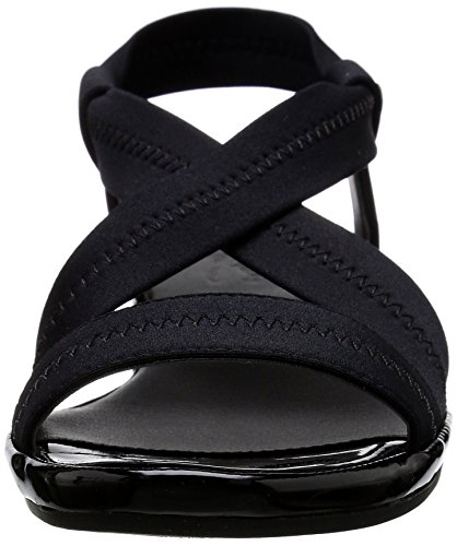 Life Stride Debutante Femmes Toile Sandales Compensés Black