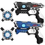 KidsFun Lasertag Set: 2 Laser Pistolen + 2 Laser Tag Weste - Laserpistolen Set für Kinder Ab 7...