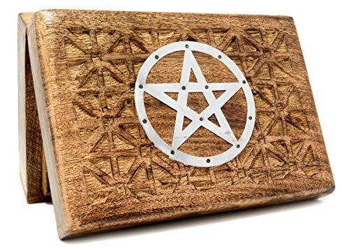 Piquaboo Caja de Madera Maciza Pentagrama 18 x 13 cm