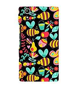 Honey Bee Pattern 3D Hard Polycarbonate Designer Back Case Cover for Micromax Canvas Selfie 2 Q340