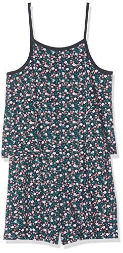 NAME IT Mädchen NKFVIGGA Strap Suit H Overall, Mehrfarbig (Dark Sapphire AOP: Flowers), Herstellergröße: 152 Strap Jumpsuit