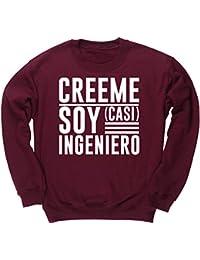 HippoWarehouse Créeme Soy (Casi) Ingeniero jersey sudadera suéter derportiva unisex