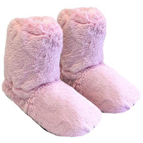 Originale thermo sox pantofola - scaldapiedi in altezza di una calza, riscaldate in microonde, misura m 36-40 / rosa