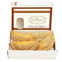 Ghasitaram Gifts Holi Sweets-Ghasitaram's Roasted Khus Khus Gujiya 200 GMS