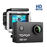 Action Cam Full HD 1080P, 12MP, 170° Grandangolare, Action Camera 2 Pollici Display Action Camera Sport, 30M Impermeabile, 26 Pezzi Accessori, Video Full HD a 1080P e 30 fps , Video Camera Perfetto per Sport Esterni