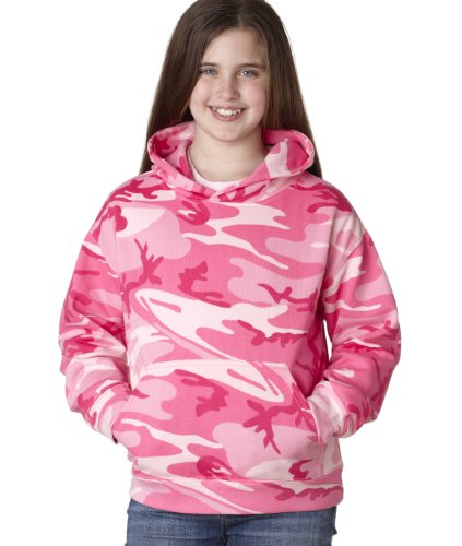 Adult Camo Pullover Fleece Hoodie PINK WOODLAND M Camo-fleece-pullover