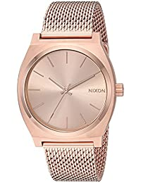 Nixon Women's 'Time Teller Milanese' Quartz Stainless Steel Casual Watch, Color:Rose Gold-Toned (Model: A1187897)