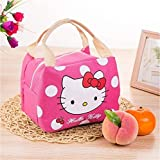 TheTickleToe Insulated Lunch Bag Thermal Stripe Tote Bags Picnic Food Lunch Box Bag For Women Girls Ladies Kids