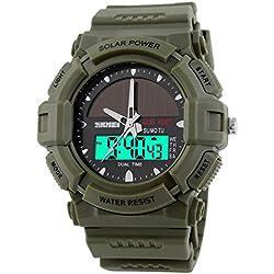 Highdas Personalized Solar Power Watch Studant Wristwatch 3 Colors