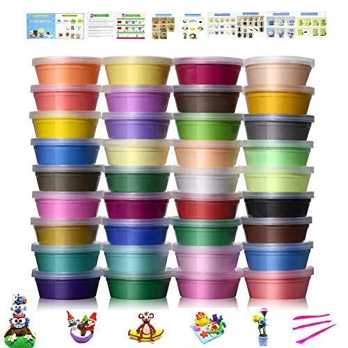 6 Farben No-toxic Ultra Light Magic Clay, DIY Kreatives und Educational Kinder Spielzeug Set, Das beste Halloween Weihnachtsgeschenk (36) ()