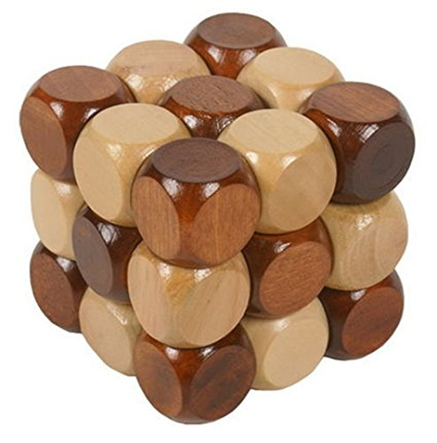 Joyeee® Denksportaufgaben aus Holz Gehirnjogging Puzzle Entwirrung Puzzles - #1