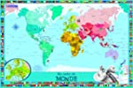 Ma carte du monde pour enfants : 1 po...