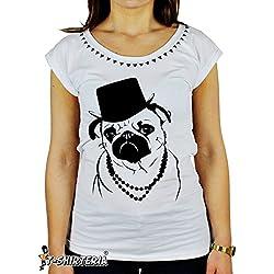 Camiseta diseño de perro carlino rap-todas las tallas
