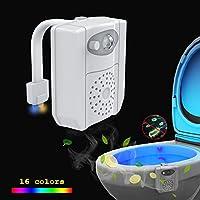UV sterilizatör WC gece lambası, hareket etkinleştirmek için LED WC oturak ışık 16renk değiştiren kase ışık, aroma terapisi için her Toilette–beyaz, 16 Farben