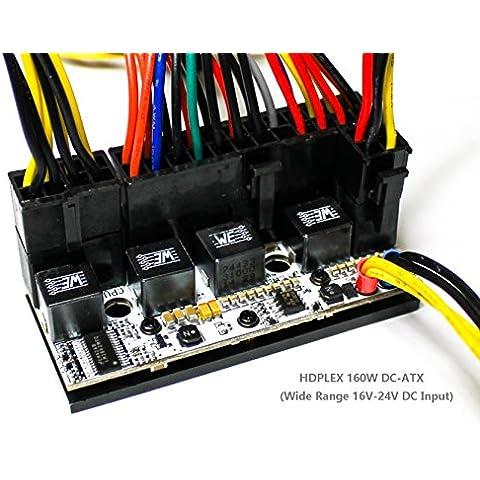 HDPLEX 160W DC-ATX - Fuente de alimentación DC silenciosa 16V–24V/160W ATX