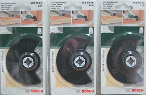 Preisvergleich Produktbild Bosch 2609256943 Segmentsägeblatt ACZ 85 EB BIM OIS, 3 Stück