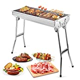 Uten Barbecue Pique Nique Portable Barbecue à Charbon BBQ Grille en Acier...