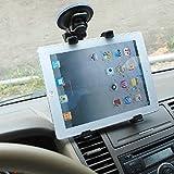 UCMDA Tablette Support pour Voiture, 360degrés Support de Pare-Brise de Voiture réglable avec Ventouse pour iPad Air 12, iPad 234, iPad 9.72017, Samsung Galaxy Tab A 10.1/Tab E 9.6(7–25,4cm)