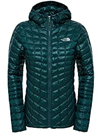 The North Face W Thermoball Hoodie  - Chaqueta con capucha para mujer, color verde, talla XS