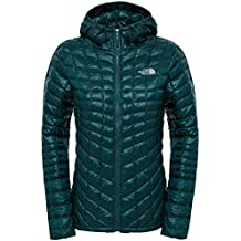 The North Face W Thermoball Hoodie  - Chaqueta con capucha para mujer, color verde, talla L