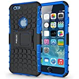 Pegoo Coque iPhone 6,Antichoc Armure Protection Housse Anti Scratch Coque Housse Etui Support Cover Case pour Apple iPhone 6 6S (Bleu)