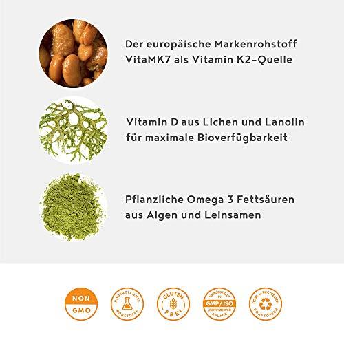 Sonnenvitamine Vitamin D3 + K2 + Omega 3, 80 Kapseln - 4