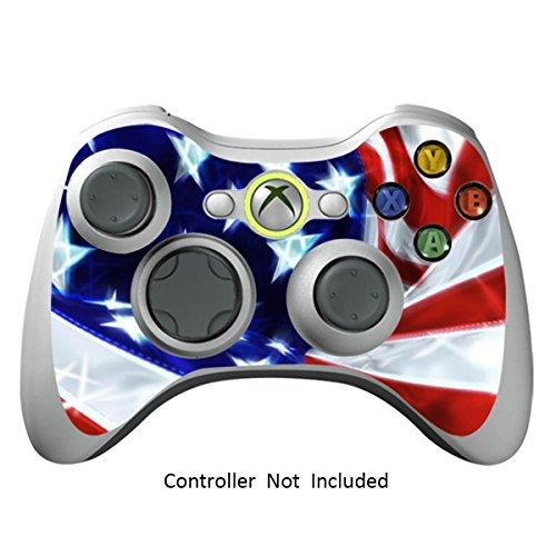 Xbox 360 Controller Designfolie Sticker - Vinyl Aufkleber Schutzfolie Skin für Xbox 360 Controller - Star & Stripes