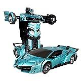 Fernbedienung Auto für Kinder, RC Transformation Roboter, 1:12 Skala Kinder Interaktive Auto Spielzeug Fernbedienung Roboter Mit Sounds, One Key Verformung Geste Induktion
