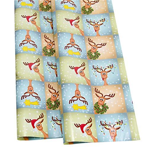 Bescita Weihnachtspapier Ausgewählte Serien schönes Geschenkpapier Weihnachten, Hochwertige Geschenkverpackung mit Sterne für Geburtstage, Ostern oder Weihnachten - 3 Rollen (F)