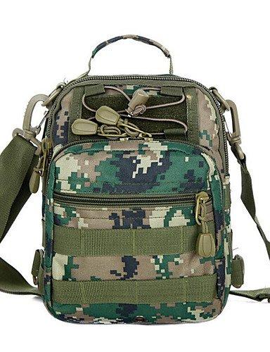 HWB/ 18 L Umhängetasche Camping & Wandern Draußen Multifunktions Schwarz / Braun / Tarnfarben Leinwand Other jungle camouflage